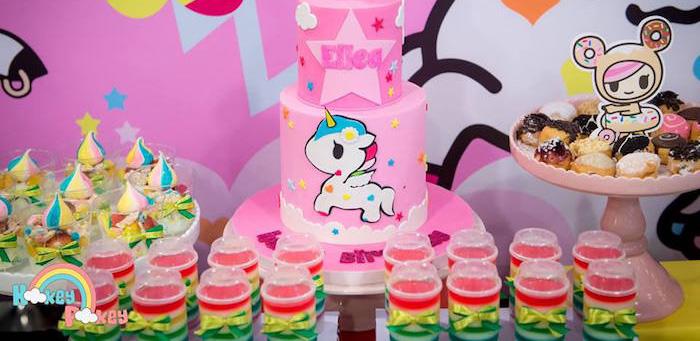 Cakes + Sweets from a Tokidoki Unicorno Themed Birthday Party via Kara's Party Ideas | KarasPartyIdeas.com (1)