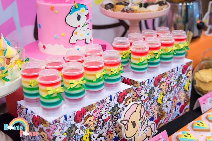 Jello Pops from a Tokidoki Unicorno Themed Birthday Party via Kara's Party Ideas | KarasPartyIdeas.com (18)