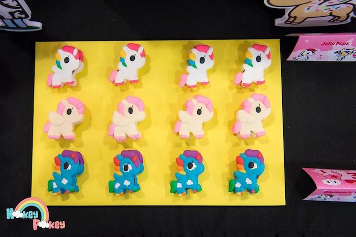 Unicorn Macarons from a Tokidoki Unicorno Themed Birthday Party via Kara's Party Ideas   KarasPartyIdeas.com (16)