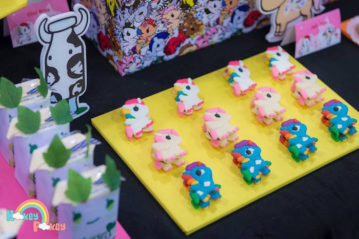 Unicorn Macarons from a Tokidoki Unicorno Themed Birthday Party via Kara's Party Ideas | KarasPartyIdeas.com (15)