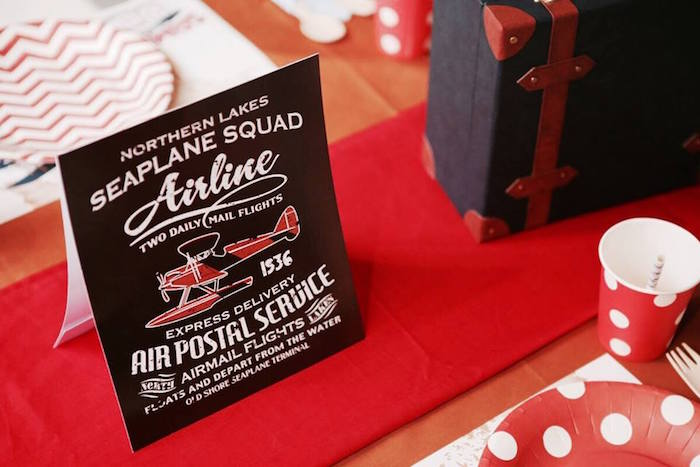 Stationery + Sign from a Travel + Airplane Inspired First Birthday Party via Kara's Party Ideas KarasPartyIdeas.com (7)