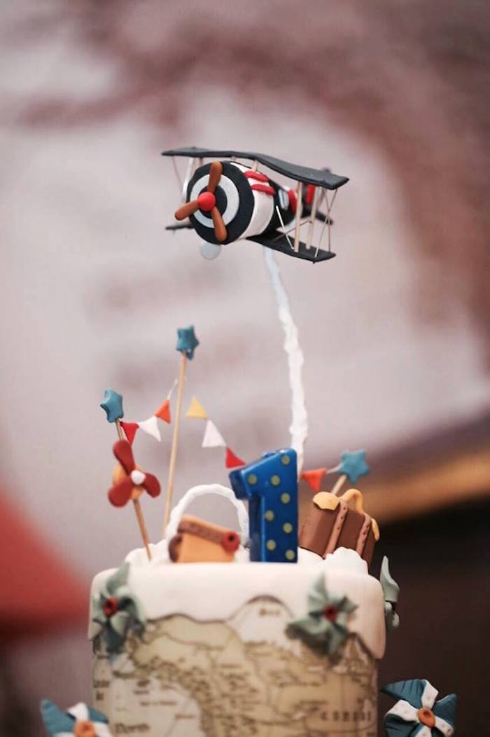 Kara S Party Ideas Airplane Inspired 1st Birthday Party