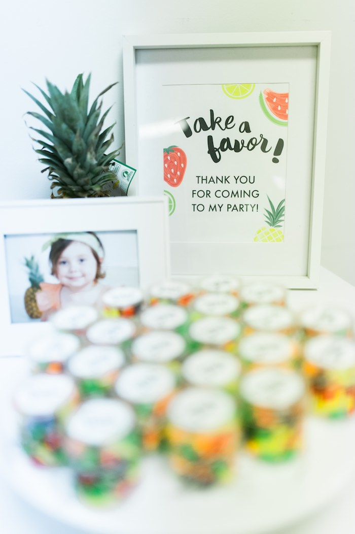 Framed Sign + Stationery from a Tutti Frutti Birthday Party via Kara's Party Ideas | KarasPartyIdeas.com (16)