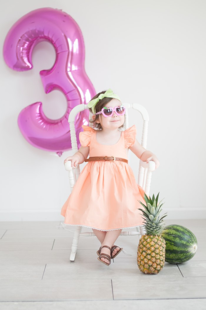 Birthday Girl from a Tutti Frutti Birthday Party via Kara's Party Ideas | KarasPartyIdeas.com (29)