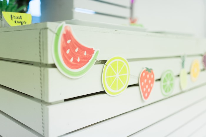 Fruit Banner from a Tutti Frutti Birthday Party via Kara's Party Ideas | KarasPartyIdeas.com (27)