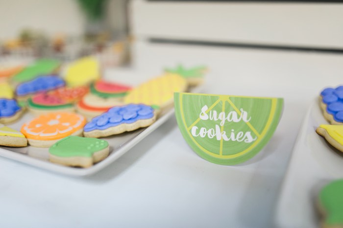 Sugar Cookies from a Tutti Frutti Birthday Party via Kara's Party Ideas | KarasPartyIdeas.com (25)