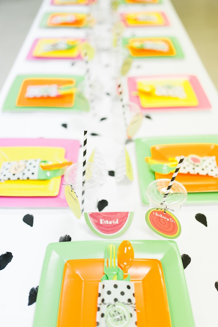 Dining Tablescape from a Tutti Frutti Birthday Party via Kara's Party Ideas | KarasPartyIdeas.com (22)