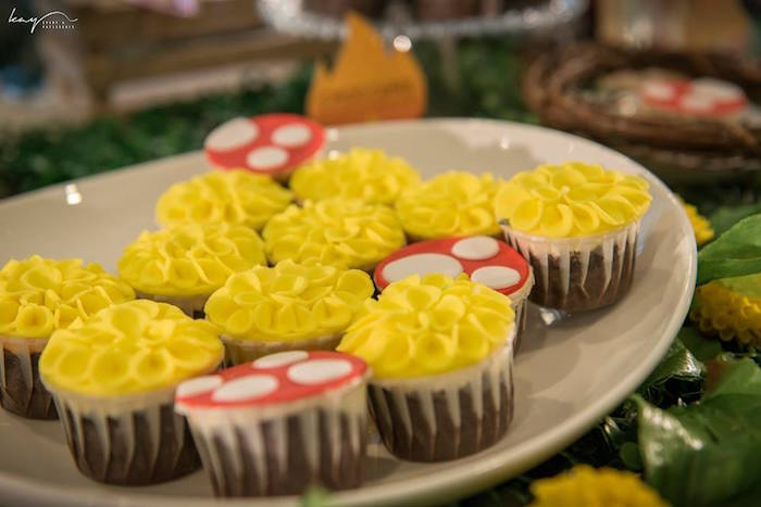 Cupcakes from a Woodland Animal Birthday Party via Kara's Party Ideas | KarasPartyIdeas.com | The Place for All Things Party! (8)