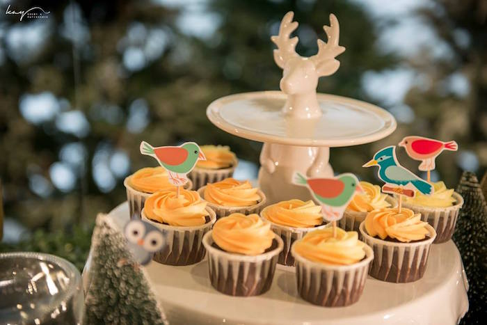 Cupcakes from a Woodland Animal Birthday Party via Kara's Party Ideas | KarasPartyIdeas.com | The Place for All Things Party! (17)