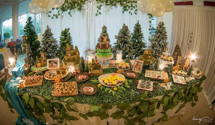 Dessert Table Display from a Woodland Animal Birthday Party via Kara's Party Ideas | KarasPartyIdeas.com | The Place for All Things Party! (15)