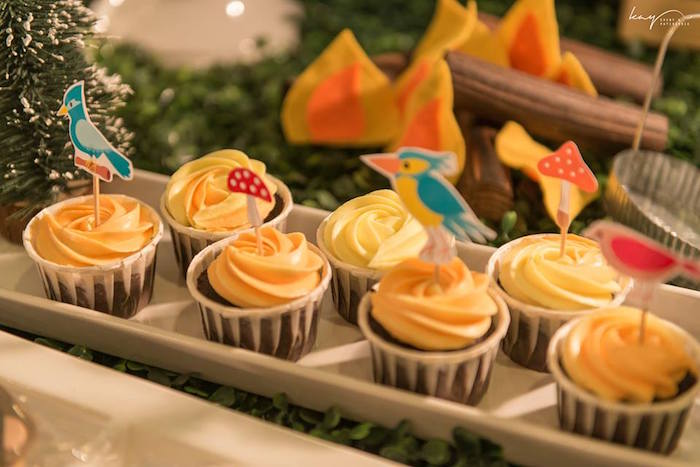 Cupcakes from a Woodland Animal Birthday Party via Kara's Party Ideas | KarasPartyIdeas.com | The Place for All Things Party! (14)