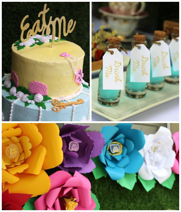 Details from an Alice In Wonderland Dessert Table via Kara's Party Ideas | KarasPartyIdeas.com (2)