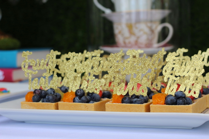 Fruit Tarts from an Alice In Wonderland Dessert Table via Kara's Party Ideas | KarasPartyIdeas.com (19)