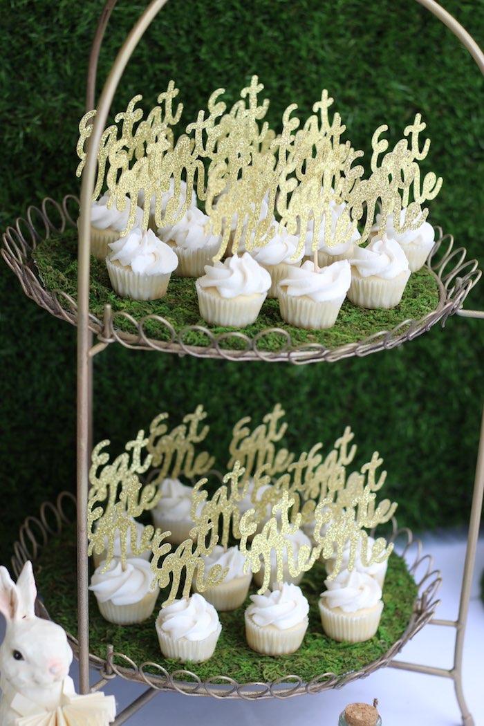 Cupcake Stand from an Alice In Wonderland Dessert Table via Kara's Party Ideas | KarasPartyIdeas.com (15)