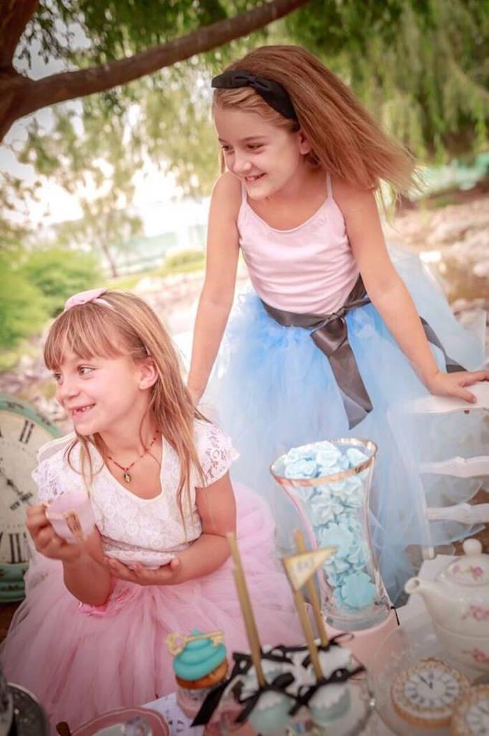 Little Girls at an Alice in Wonderland Tea Party via Kara's Party Ideas   KarasPartyIdeas.com (15)