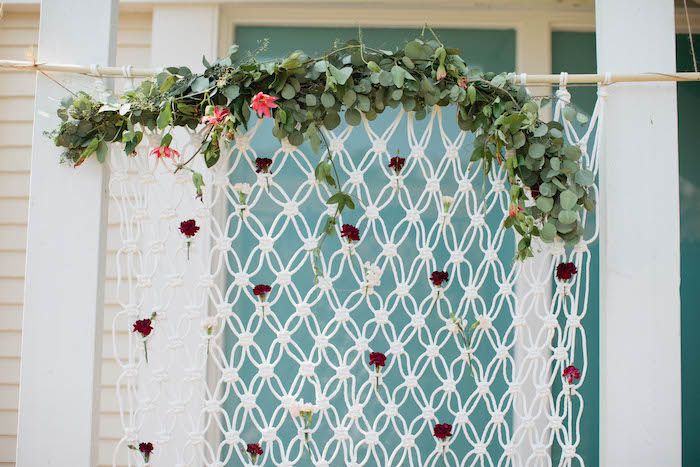 bohemian backdrop details from a boho baby shower via kara 39 s party