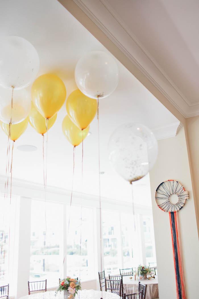 Balloons from a Boho Baby Shower via Kara's Party Ideas | KarasPartyIdeas.com (59)