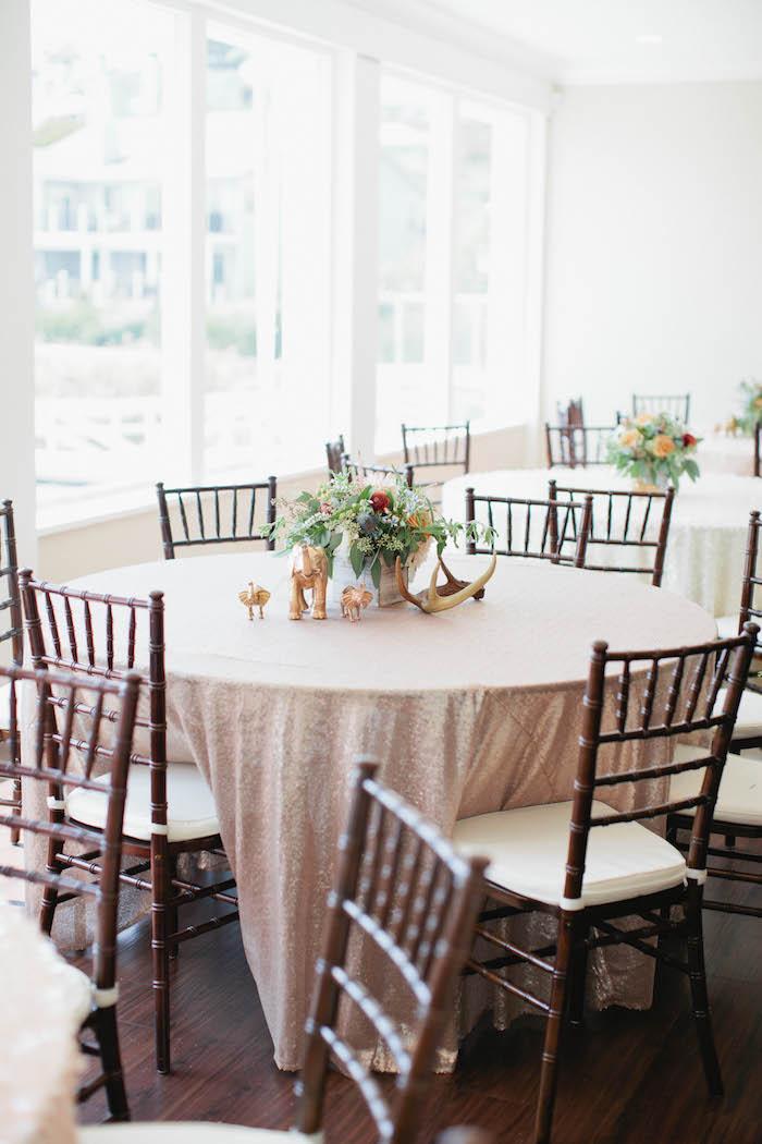 Guest Tables from a Boho Baby Shower via Kara's Party Ideas | KarasPartyIdeas.com (51)
