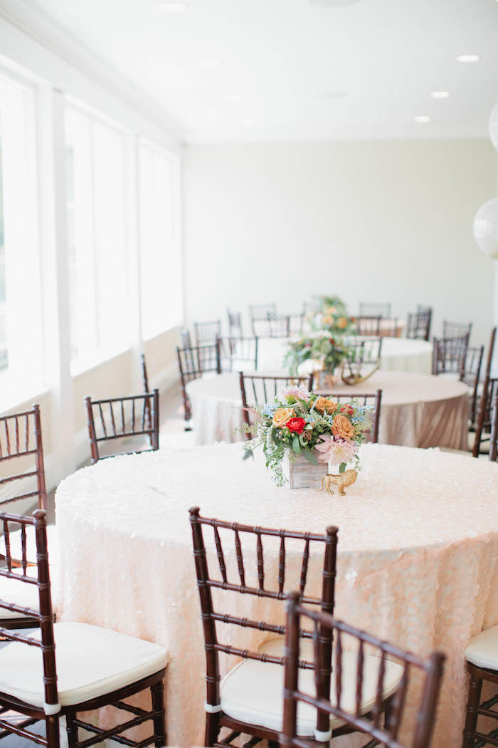 Guest Tables from a Boho Baby Shower via Kara's Party Ideas | KarasPartyIdeas.com (50)
