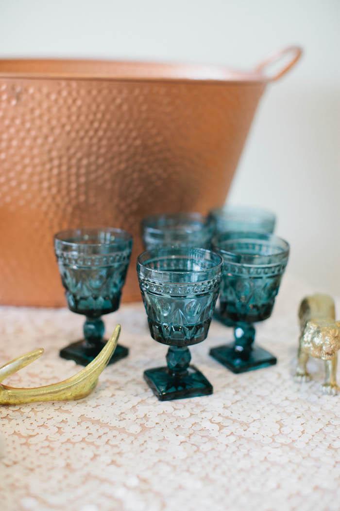 Glasses from a Boho Baby Shower via Kara's Party Ideas | KarasPartyIdeas.com (46)