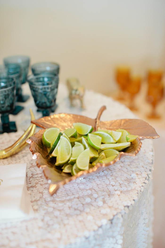 Limes for Drinks from a Boho Baby Shower via Kara's Party Ideas | KarasPartyIdeas.com (45)