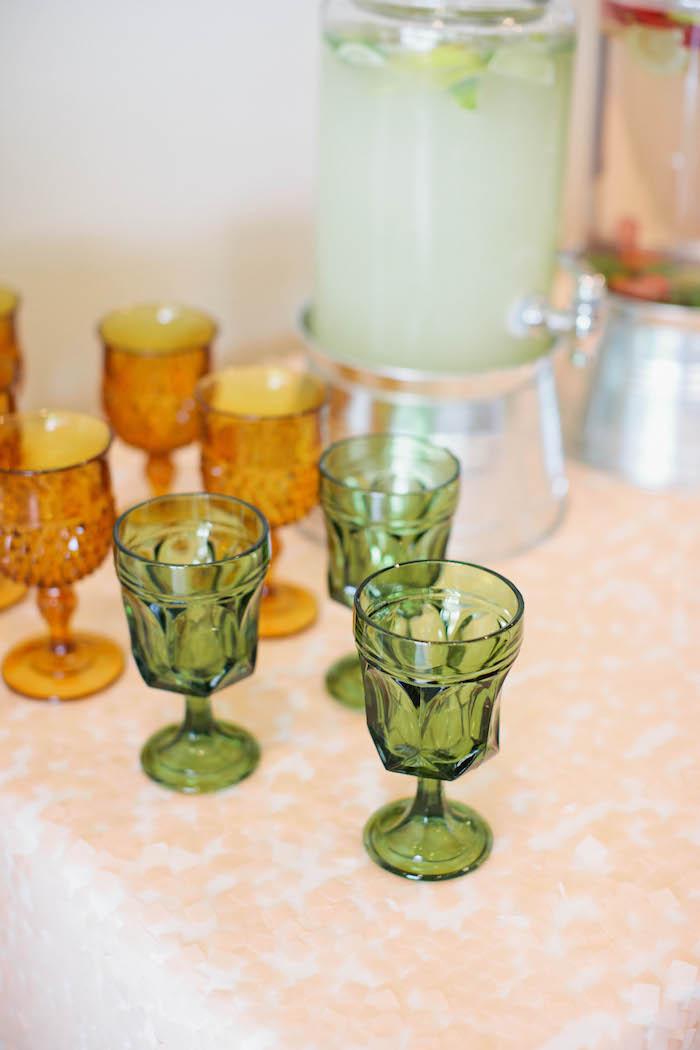 Drink Glasses from a Boho Baby Shower via Kara's Party Ideas | KarasPartyIdeas.com (41)