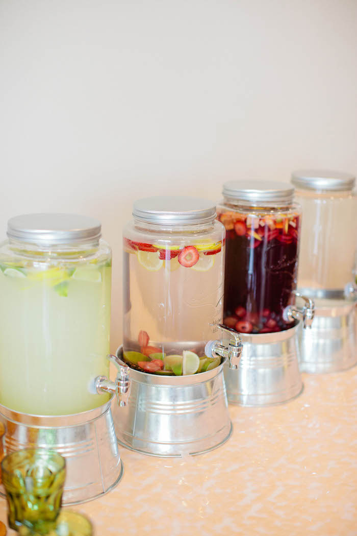 Drink Dispensers from a Boho Baby Shower via Kara's Party Ideas | KarasPartyIdeas.com (40)