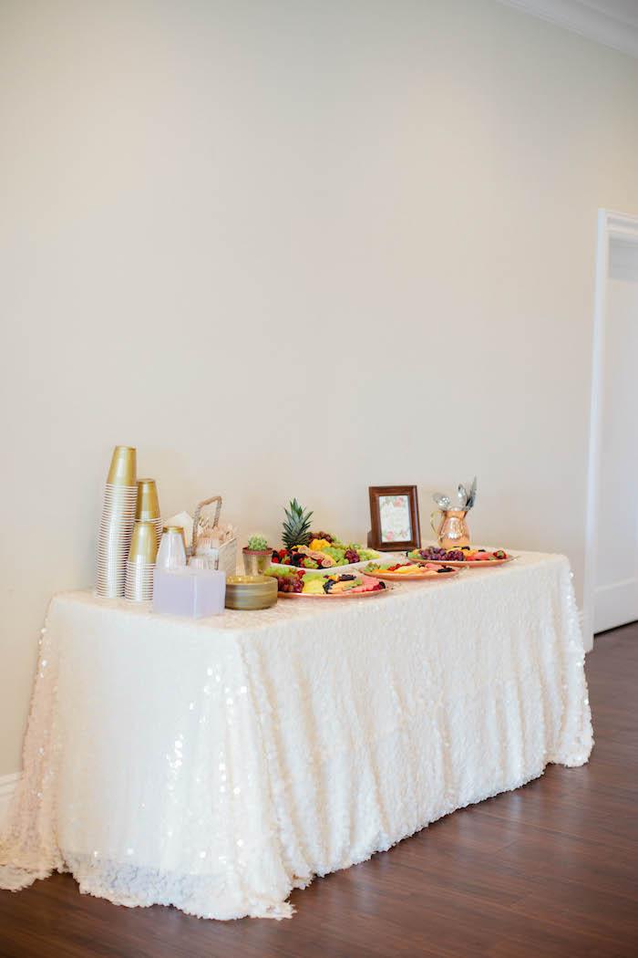 Fruit Bar from a Boho Baby Shower via Kara's Party Ideas | KarasPartyIdeas.com (37)