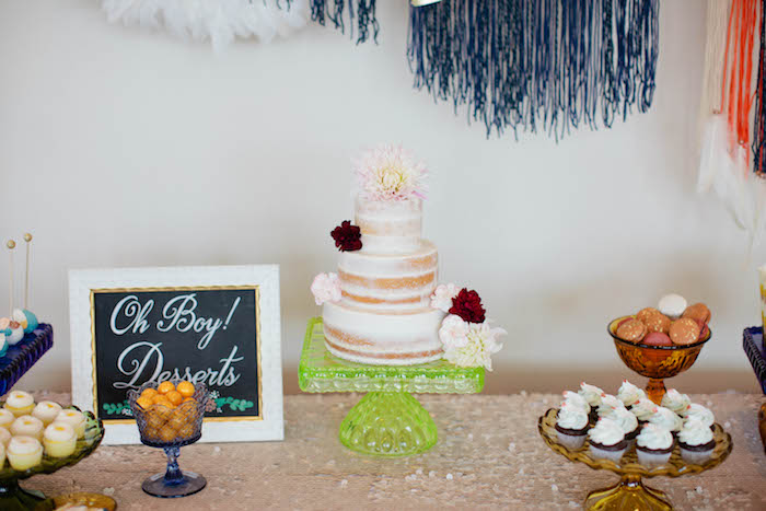 Sweet Table Details from a Boho Baby Shower via Kara's Party Ideas | KarasPartyIdeas.com (28)