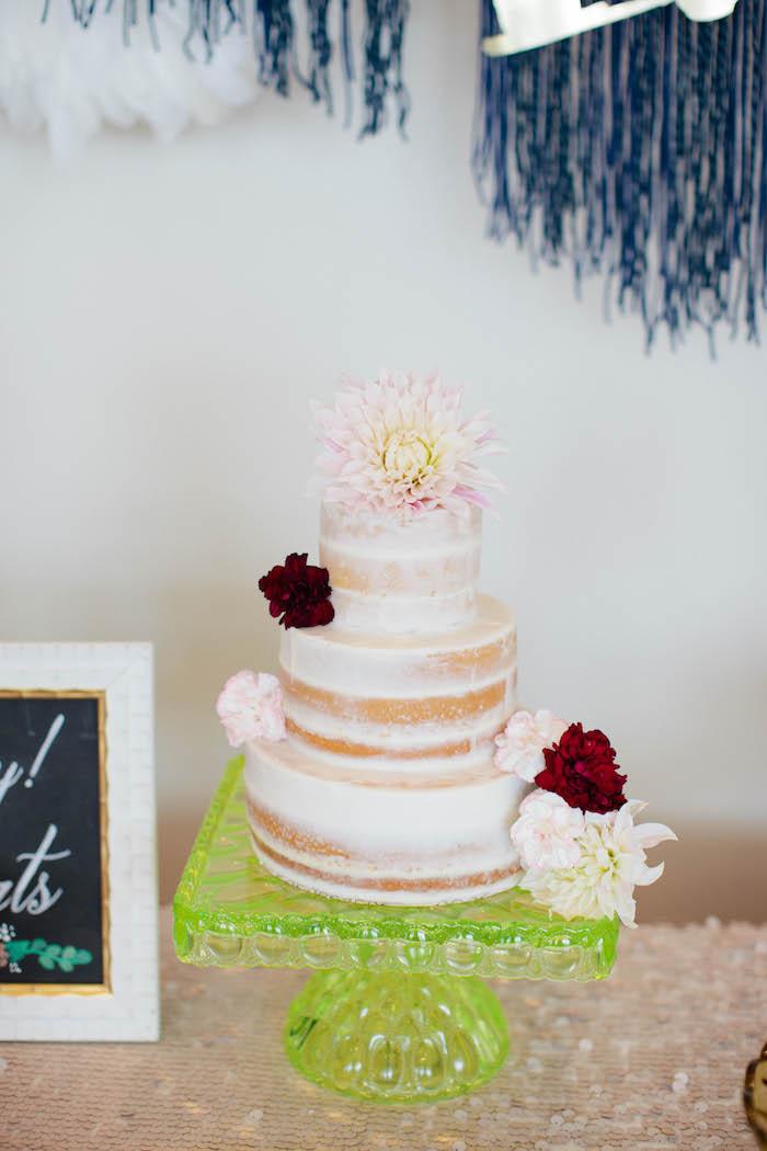 Cake from a Boho Baby Shower via Kara's Party Ideas | KarasPartyIdeas.com (27)