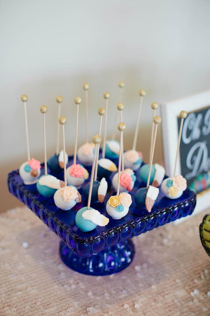 Kara's Party Ideas Outdoor Boho Baby Shower | Kara's Party ...
