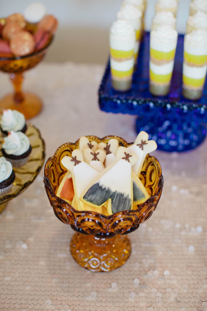 Teepee Cookies from a Boho Baby Shower via Kara's Party Ideas | KarasPartyIdeas.com (18)