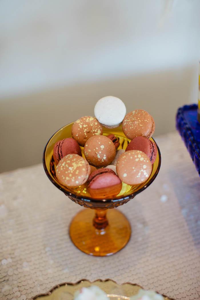 Mini Macarons from a Boho Baby Shower via Kara's Party Ideas | KarasPartyIdeas.com (17)