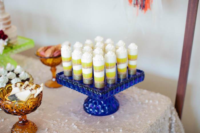 Dessert Shooters from a Boho Baby Shower via Kara's Party Ideas | KarasPartyIdeas.com (16)