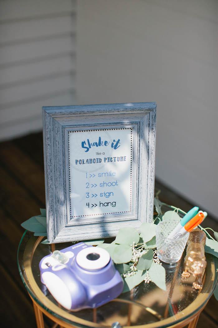 Polaroid Picture Instructions from a Boho Baby Shower via Kara's Party Ideas | KarasPartyIdeas.com (74)