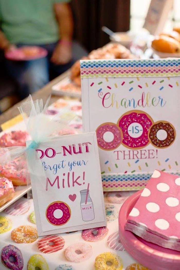 Sign + Stationery from a Donut Themed Birthday Party via Kara's Party Ideas! KarasPartyIdeas.com (29)