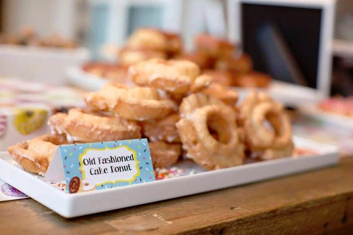 Old-Fashioned Donuts from a Donut Themed Birthday Party via Kara's Party Ideas! KarasPartyIdeas.com (24)