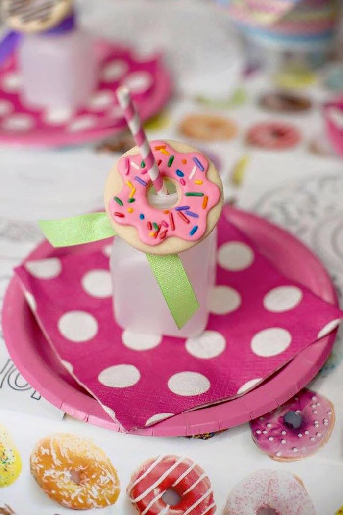 Place Setting from a Donut Themed Birthday Party via Kara's Party Ideas! KarasPartyIdeas.com (21)