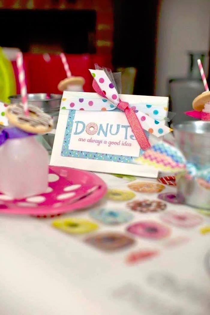 Sign + Stationery from a Donut Themed Birthday Party via Kara's Party Ideas! KarasPartyIdeas.com (17)