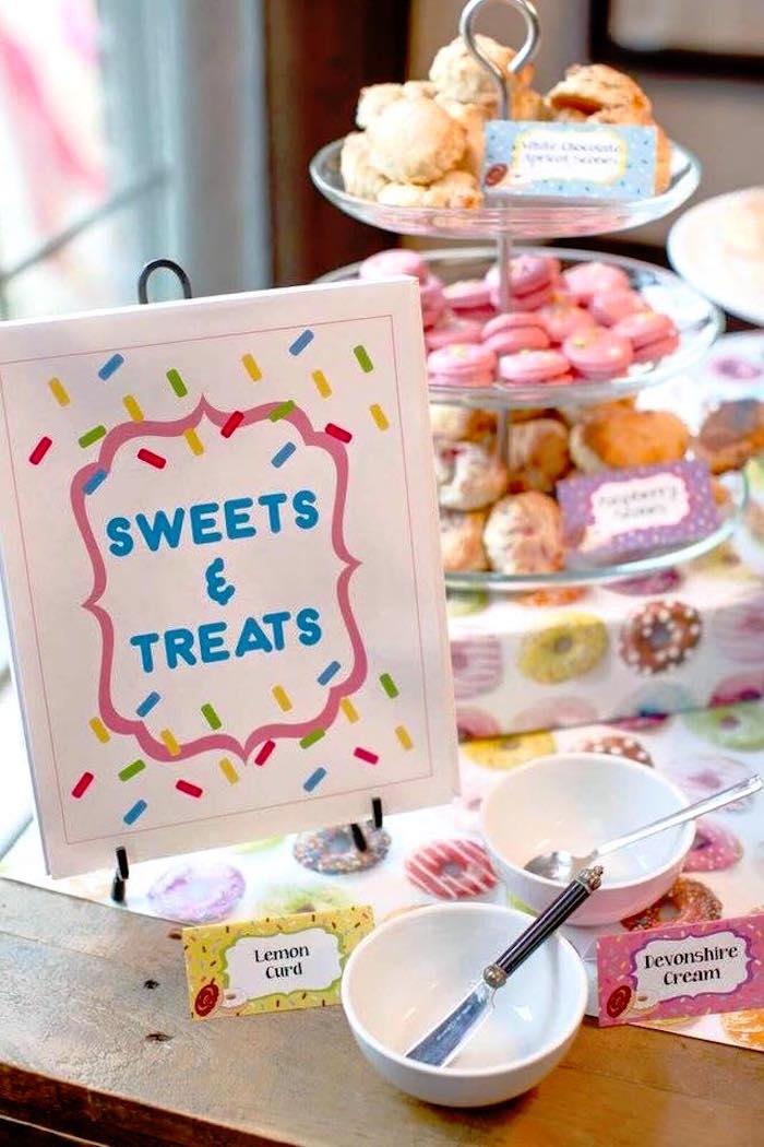 Sweet & Treat Table from a Donut Themed Birthday Party via Kara's Party Ideas! KarasPartyIdeas.com (16)