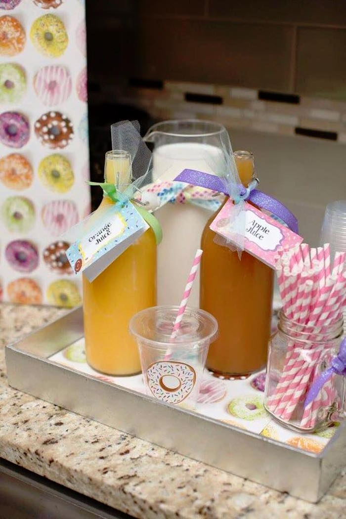 Drink Tray from a Donut Themed Birthday Party via Kara's Party Ideas! KarasPartyIdeas.com (13)