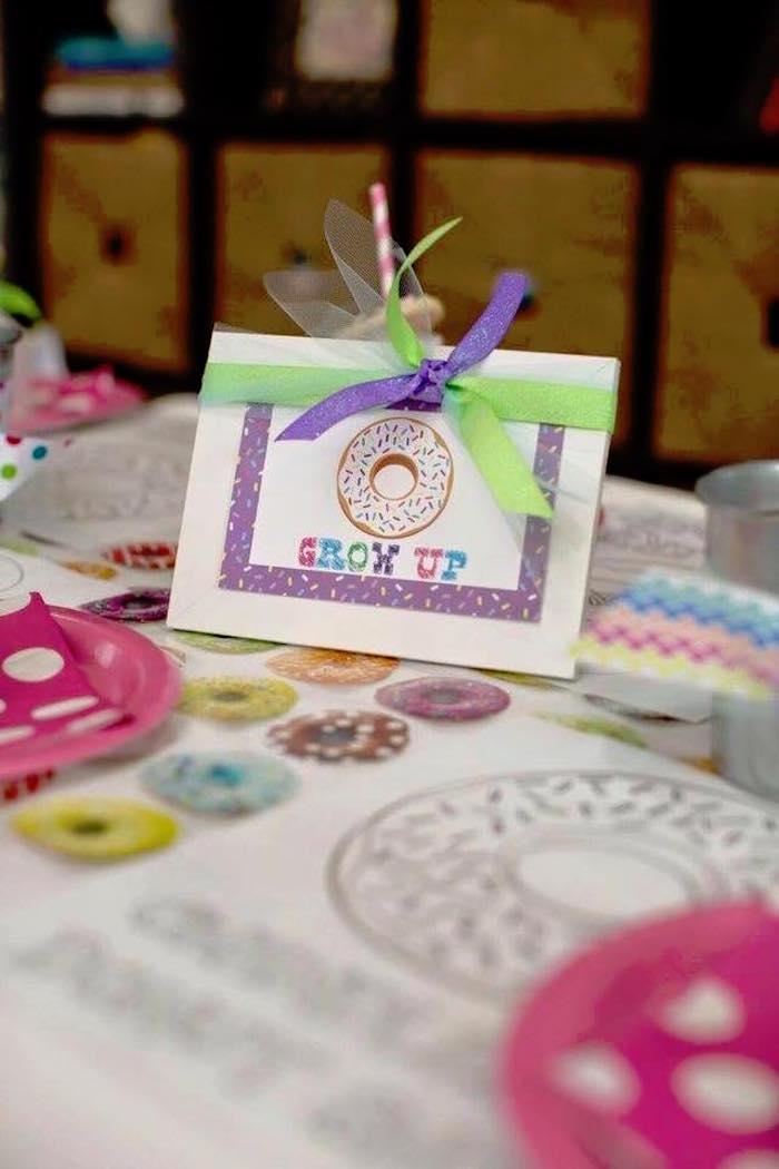 Sign + Stationery from a Donut Themed Birthday Party via Kara's Party Ideas! KarasPartyIdeas.com (12)