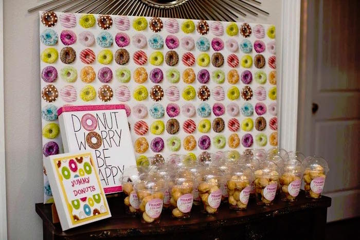 Favor Table from a Donut Themed Birthday Party via Kara's Party Ideas! KarasPartyIdeas.com (11)