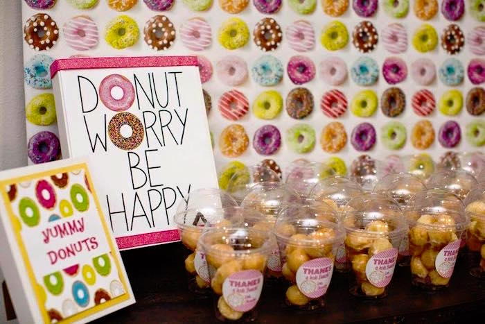 Favor Table from a Donut Themed Birthday Party via Kara's Party Ideas! KarasPartyIdeas.com (10)