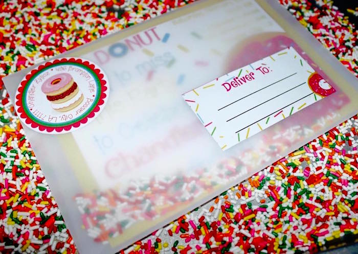 Invitation + Envelope from a Donut Themed Birthday Party via Kara's Party Ideas! KarasPartyIdeas.com (5)