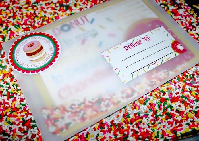 Invitation + Envelope from a Donut Themed Birthday Party via Kara's Party Ideas! KarasPartyIdeas.com (5)