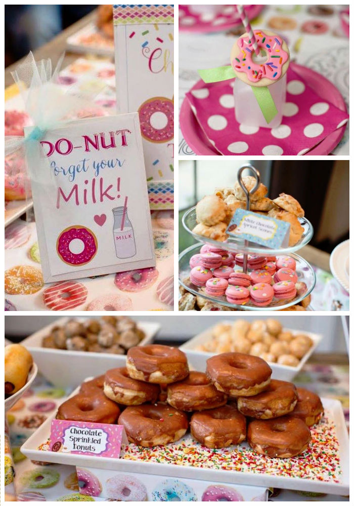 Details From A Donut Themed Birthday Party Via Karas Ideas KarasPartyIdeas