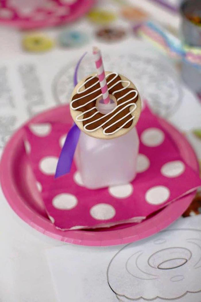 Place Setting from a Donut Themed Birthday Party via Kara's Party Ideas! KarasPartyIdeas.com (36)