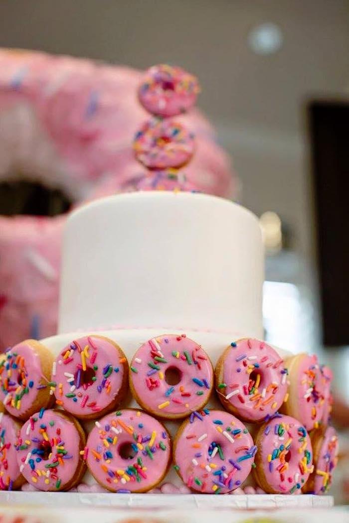 Donut Detail on a Cake from a Donut Themed Birthday Party via Kara's Party Ideas! KarasPartyIdeas.com (34)