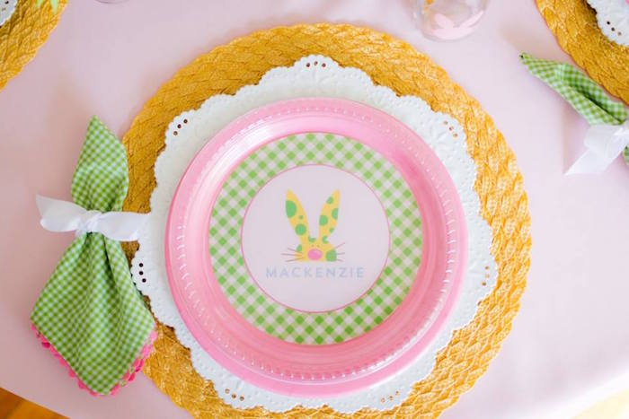 Place Setting from an Easter Bunny Brunch via Kara's Party Ideas | KarasPartyIdeas.com (28)